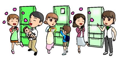 冷蔵庫 と 家族の成長