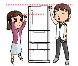 冷蔵庫 男性 女性 身長