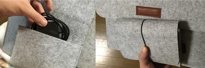 dodocool 保護プロテクターケース付属の小物入れ ゴムバンド式