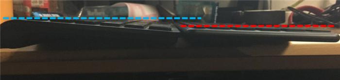 KKmoon キーボード キーボードの高さ