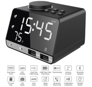 LED Display Dual Alarm Clock 機能一覧