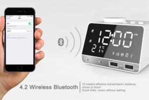 LED Display Dual Alarm Clock Bluetooth
