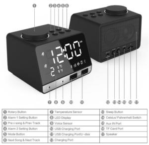 LED Display Dual Alarm Clock 外観