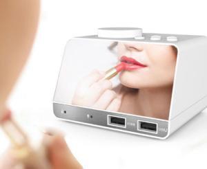 LED Display Dual Alarm Clock 化粧鏡